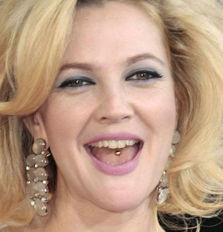 Drew-barrymore-Tongue-Ring