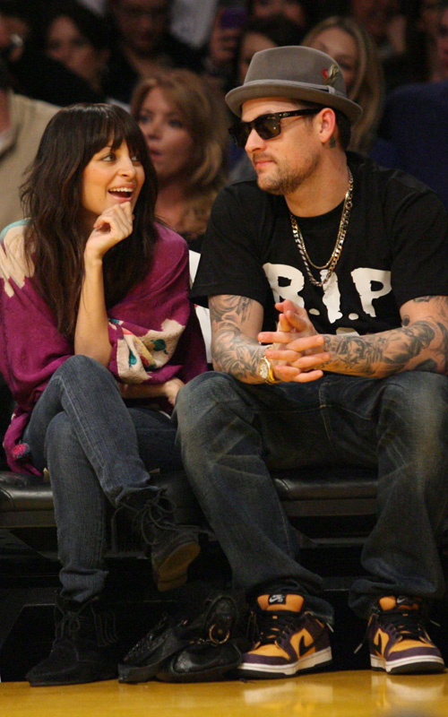 Nicole-Richie-Joel-Madden-Los-Angeles-Lakers