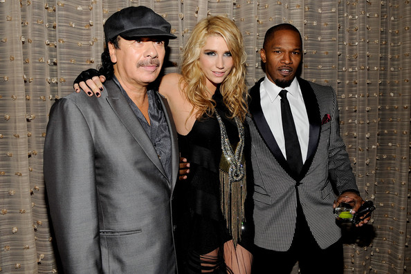 Carlos-Santana-Kesha-Jamie-Foxx-52nd-Annual-GRAMMY-Awards-Salute-To-Icons