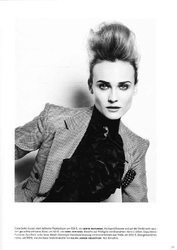 Diane-Kruger-Vogue-germany-Karl Lagerfeld-photographer