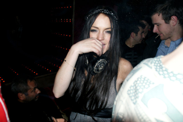 Lindsay-Lohan-drunk-party-Jean-Charles-de-Castelbajac-Ready-to-Wear