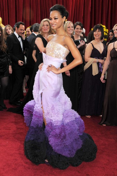 Zoe Saldana-updo-82nd-Annual-Academy-Awards