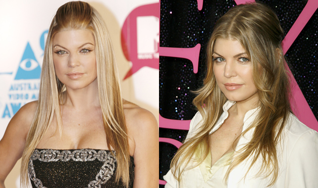 Fergie-hairstyles-half-updo