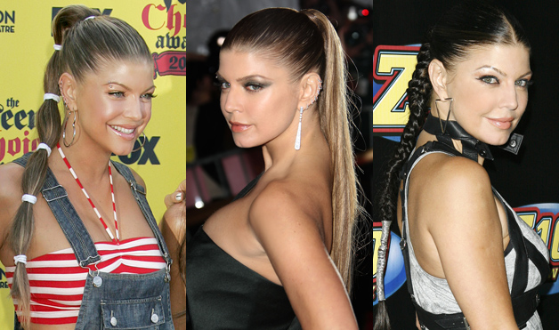 Fergie-hairstyles-high-pony