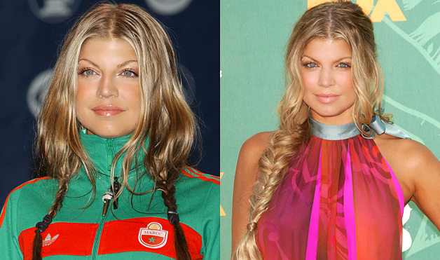 Fergie-hairstyles-loose-braids