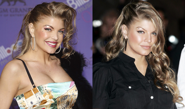 Fergie-hairstyles-side-pinned