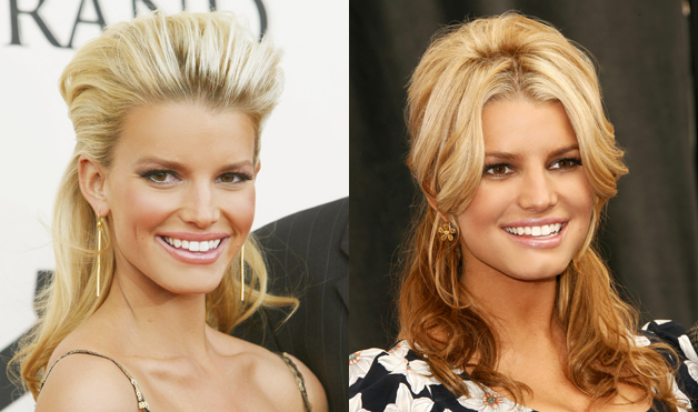 Jessica-Simpson-hairstyles-Half-Updo