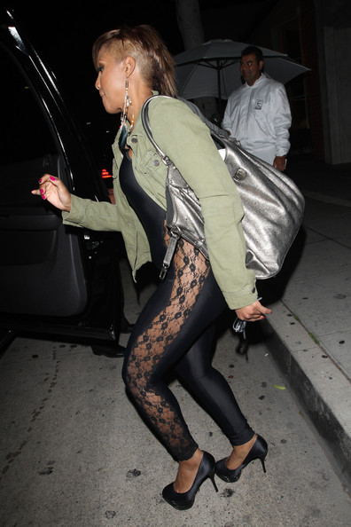 Toni-Braxton-new-shaved-hairstyle-catsuit-Mr-Chow