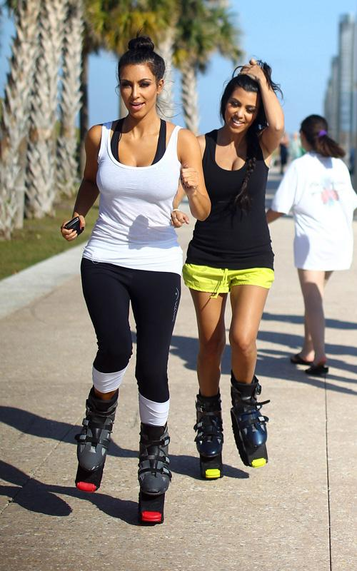 kim-kourtney-kardashian-pogo-jogging-south-beach