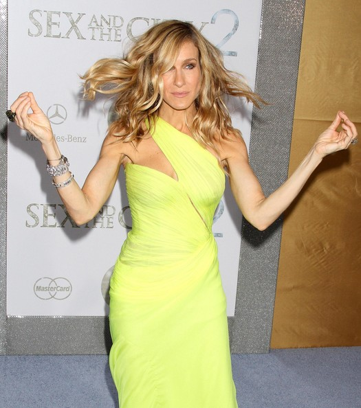 Sarah-Jessica-Parker-medium-length-waves-Sex-and-the-City-2-premiere