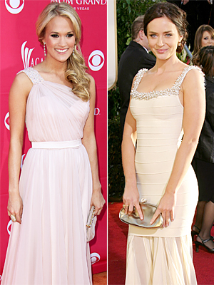 Carrie-Underwood-Emily-Blunt-wedding-dresses