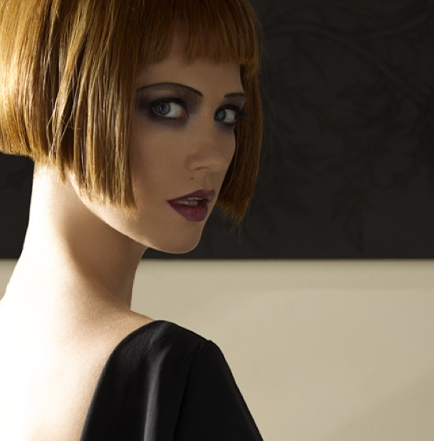January-Jones-auburn-bob--blunt-bangs-hairstyle