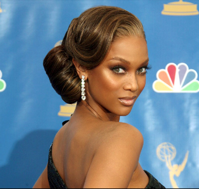 tyra-banks-updo-bridal-hairstyle