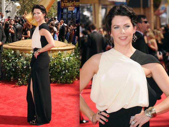Lauren-Graham-Emmy-Awards-black-and-white-dress