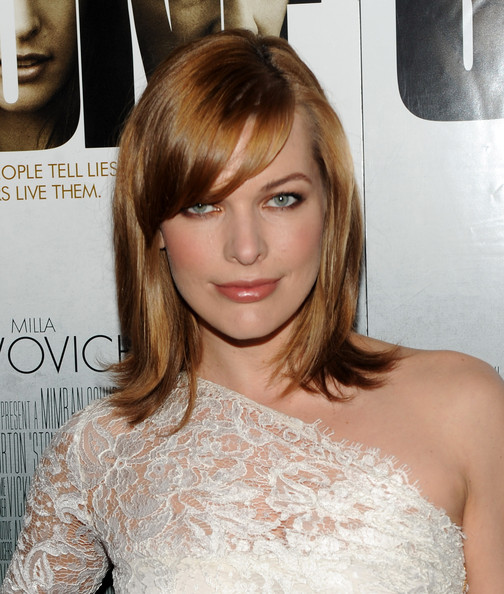 Milla-Jovovich-strawberry-blonde-bob-hairstyle